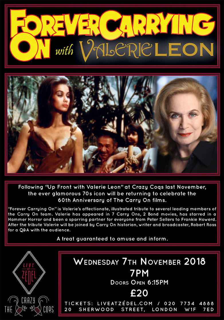 Forever Carrying On with Valerie Leon London event