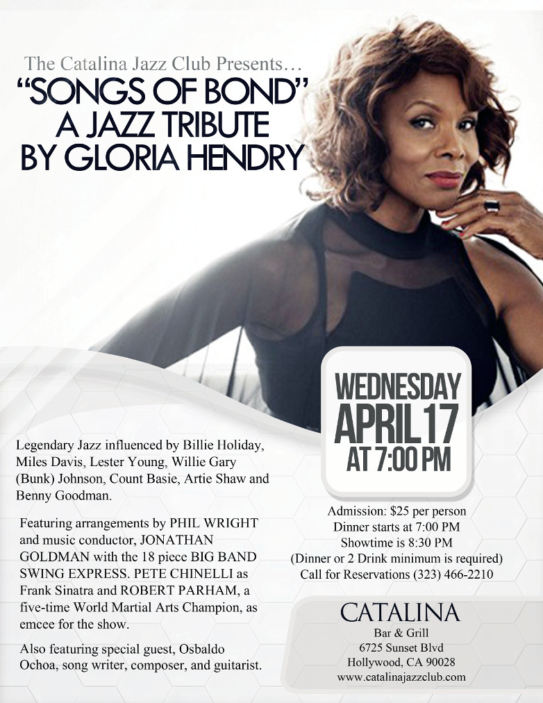 Gloria Hendry Catalina Bar Grill Hollywood