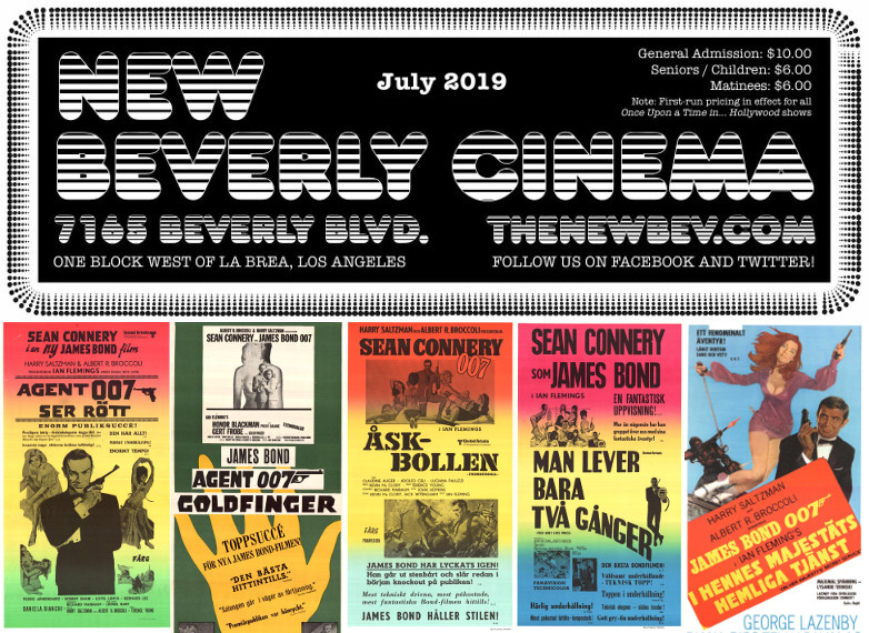 James Bond films New Beverly Cinema