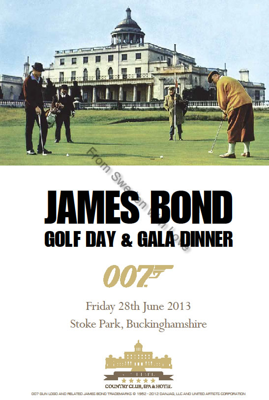 James bond golf day at stoke park