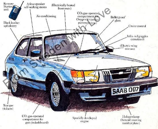 James Bond Saab 900 Turbo auction