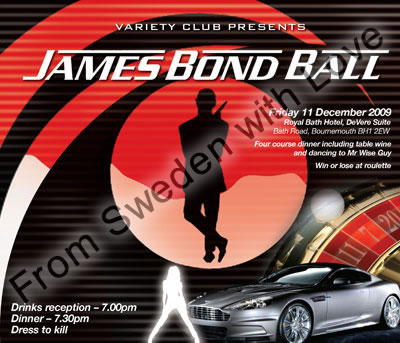 James bond ball variety club