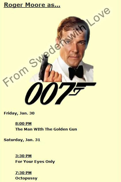 James bond film festival new jersey