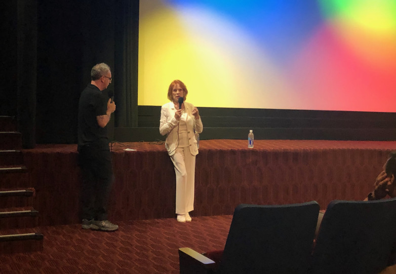 Luciana Paluzzi attends Thunderball screening at New Beverly Cinema