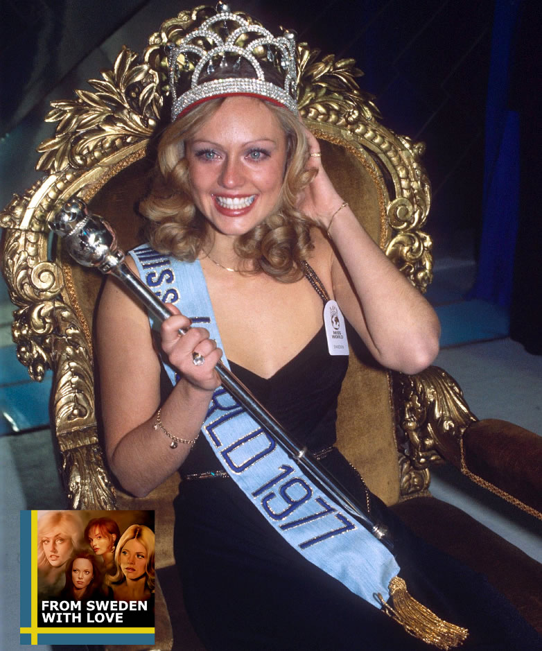 Mary Stavin Miss World 1977