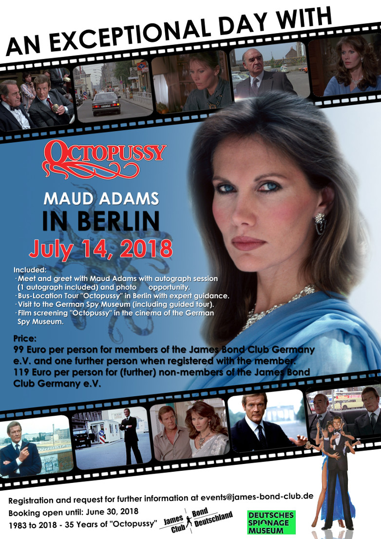 Maud Adams Octopussy Berlin event