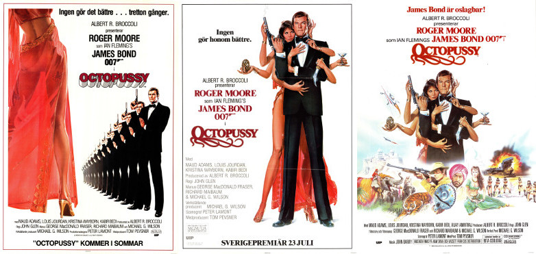 Swedish Octopussy film posters