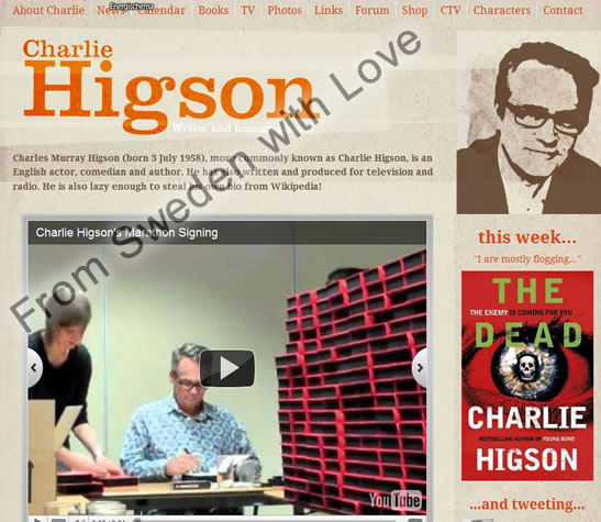 Charlie Higson official website