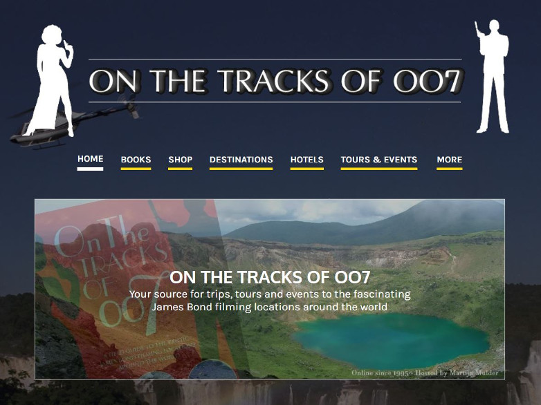 On the tracks of 007 website 25th Anniversary