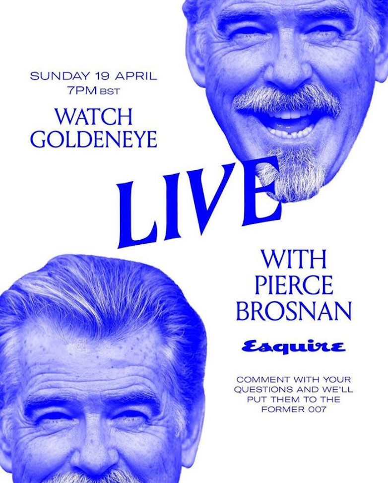 Pierce Brosnan Esquire GoldenEye Watch Along