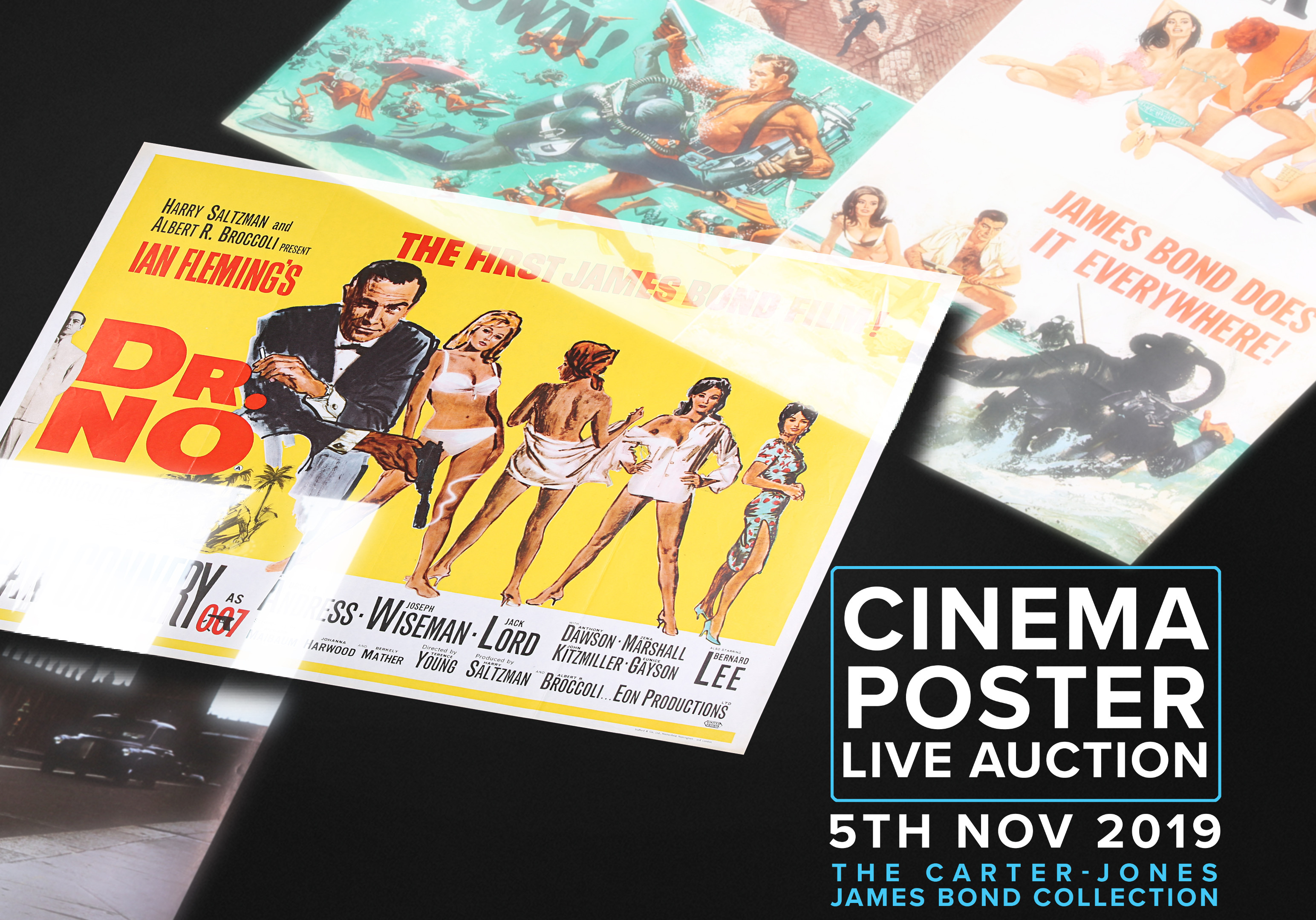 Propstore James Bond cinema poster auction