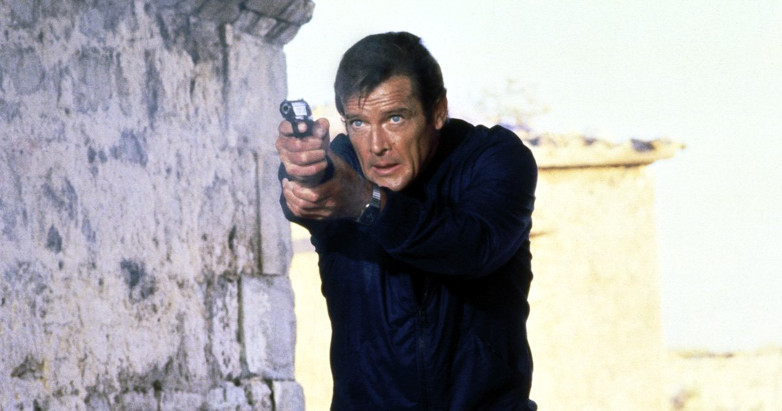Roger Moore Korfu For Your Eyes Only film