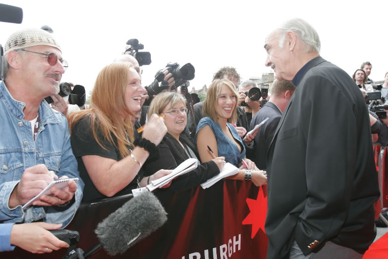 Sean Connery in Edinburgh for the city's film festival in 2006