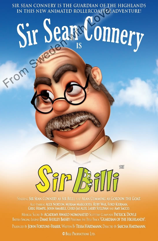 Sir billi sean connery film poster 2012