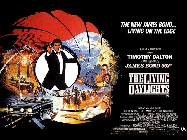 The Living Daylights UK quad poster