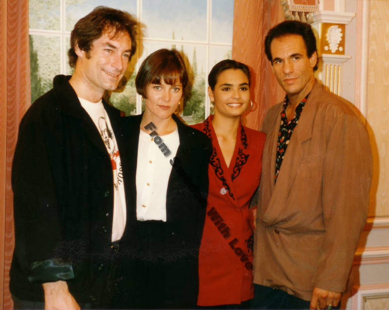 Timothy Dalton, Carey Lowell, Talisa Soto & Robert Davi at Mayfair Hotel in London