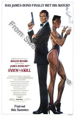 US one sheet poster for A View to a Kill (1985)