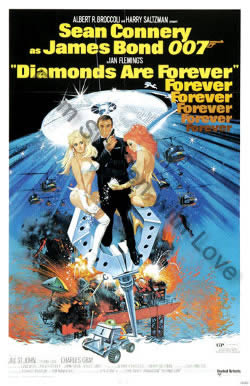 One sheet poster for Diamonds Are Forever (1977)