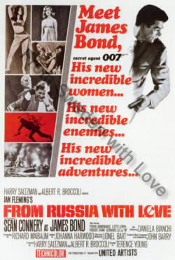 One sheet poster for From Russia with Love (1963)