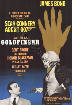 US one sheet poster for Goldfinger (1964)