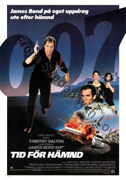 US one sheet poster for Licence to Kill (1989)