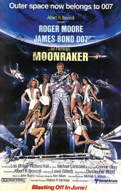US one sheet poster for Moonraker (1979)