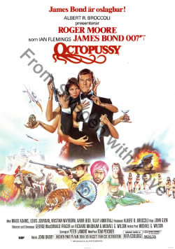 US one sheet poster for Octopussy (1983)