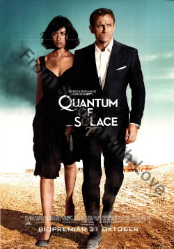 US one-sheet poster for Quantum of Solace (2008)