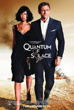 Teaser poster for Quantum of Solace (2008)