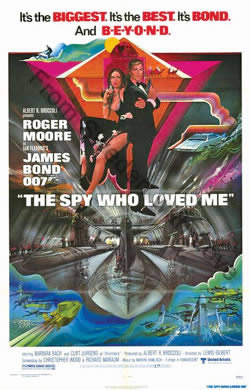 One sheet poster for The Spy Who Loved Me (1977)