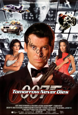 US one sheet poster for Tomorrow Never Dies (1997)