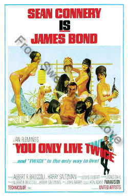 One sheet poster for You Only Live Twice (1967)