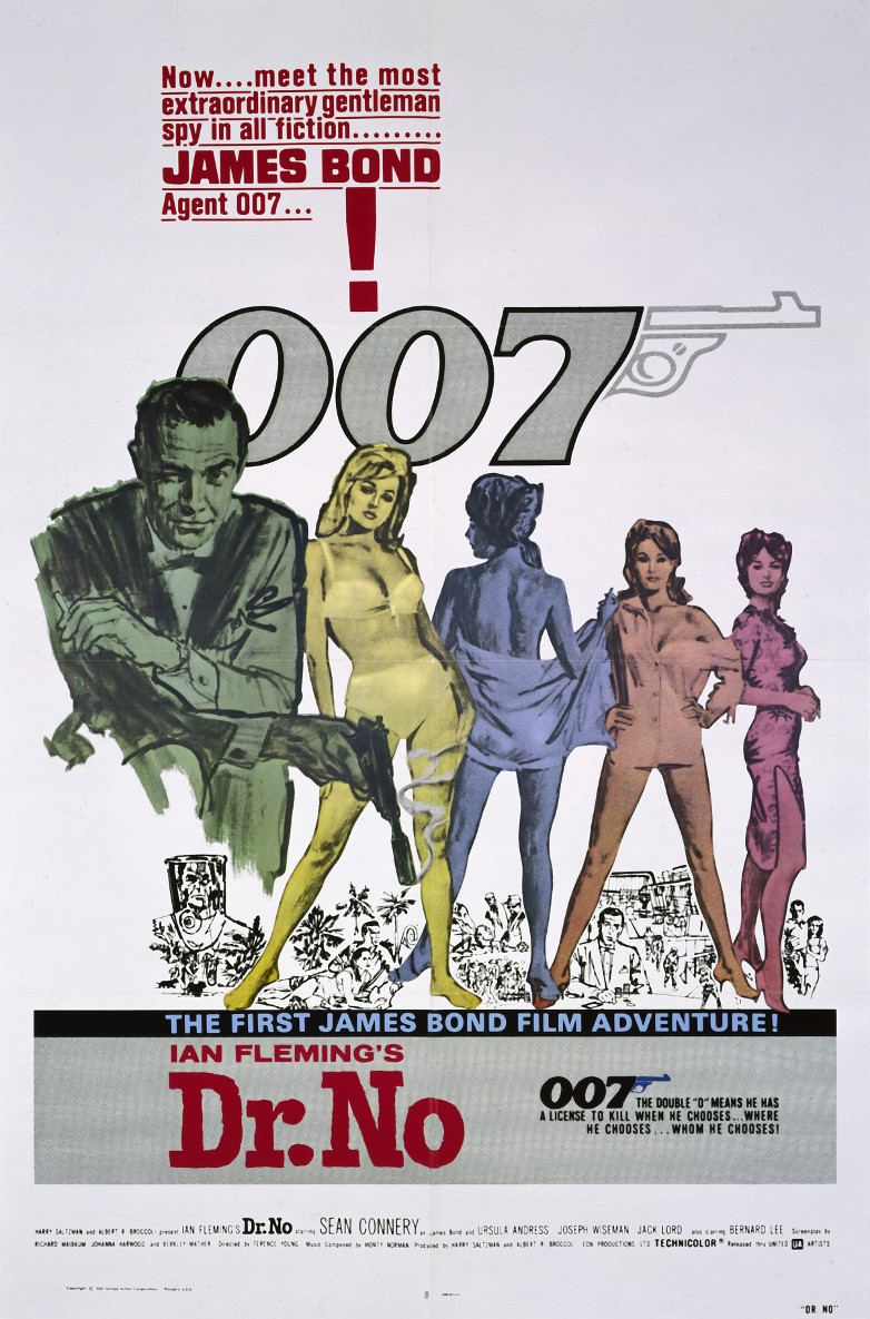 US one sheet poster for Dr. No (1962)