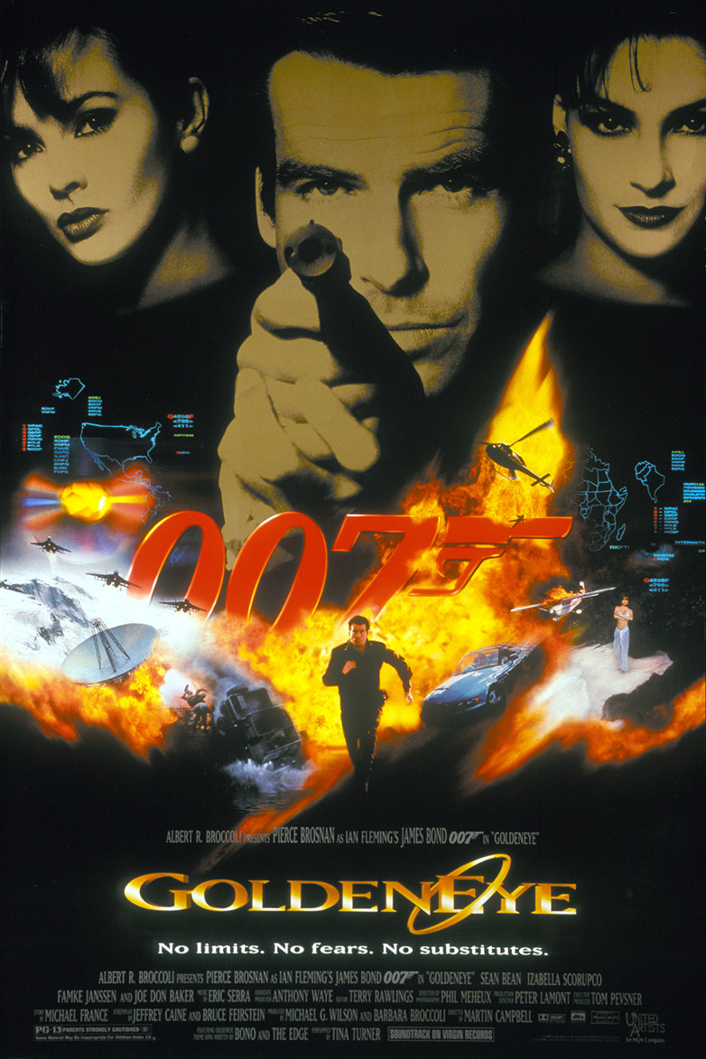 US one sheet poster for GoldenEye (1995)