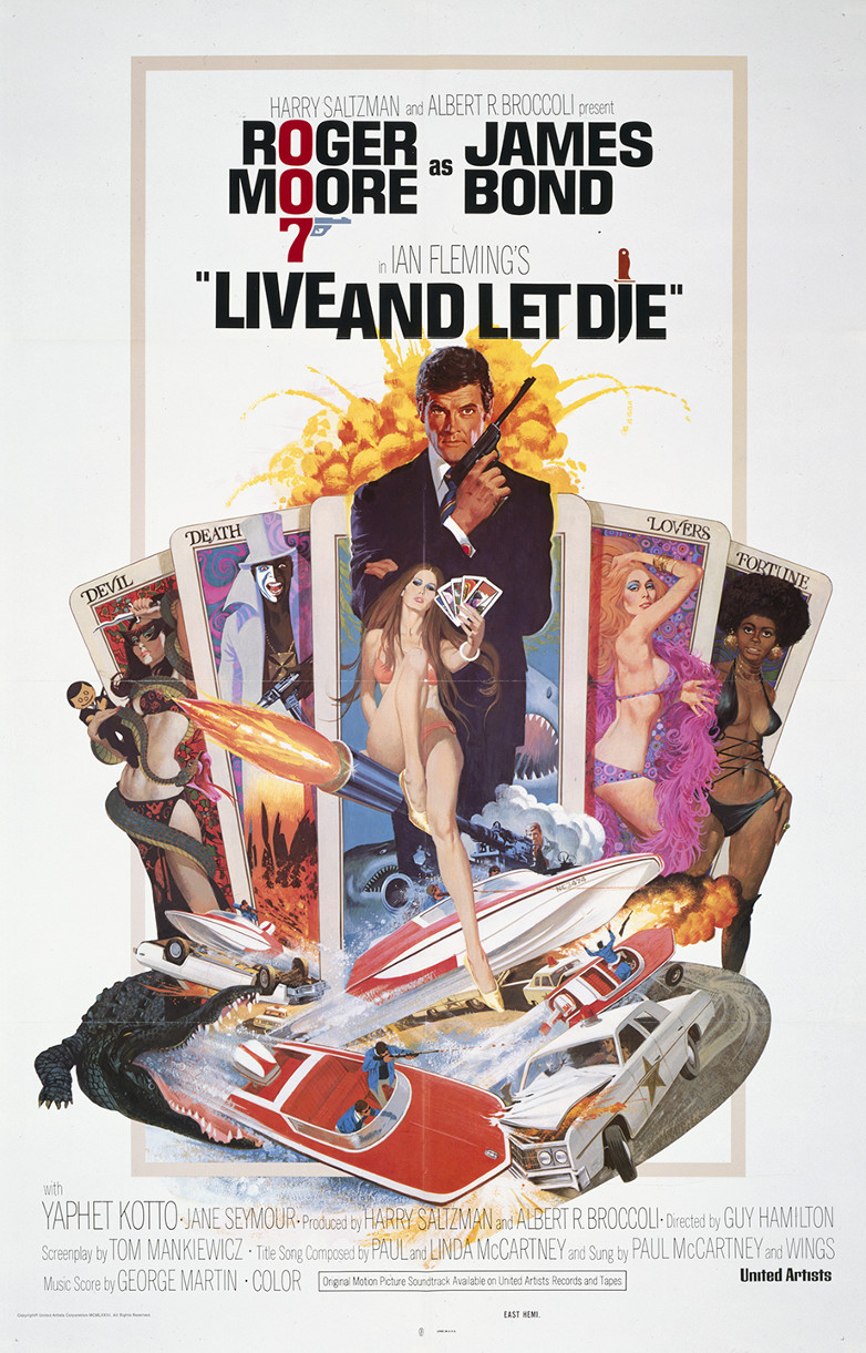 US one sheet poster for Live and Let Die (1973)