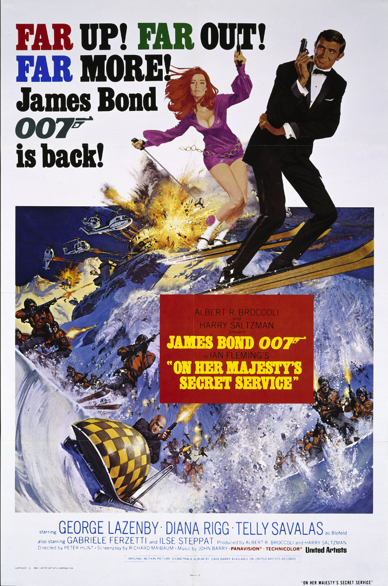 US one-sheet poster On Her Majestys Secret Service