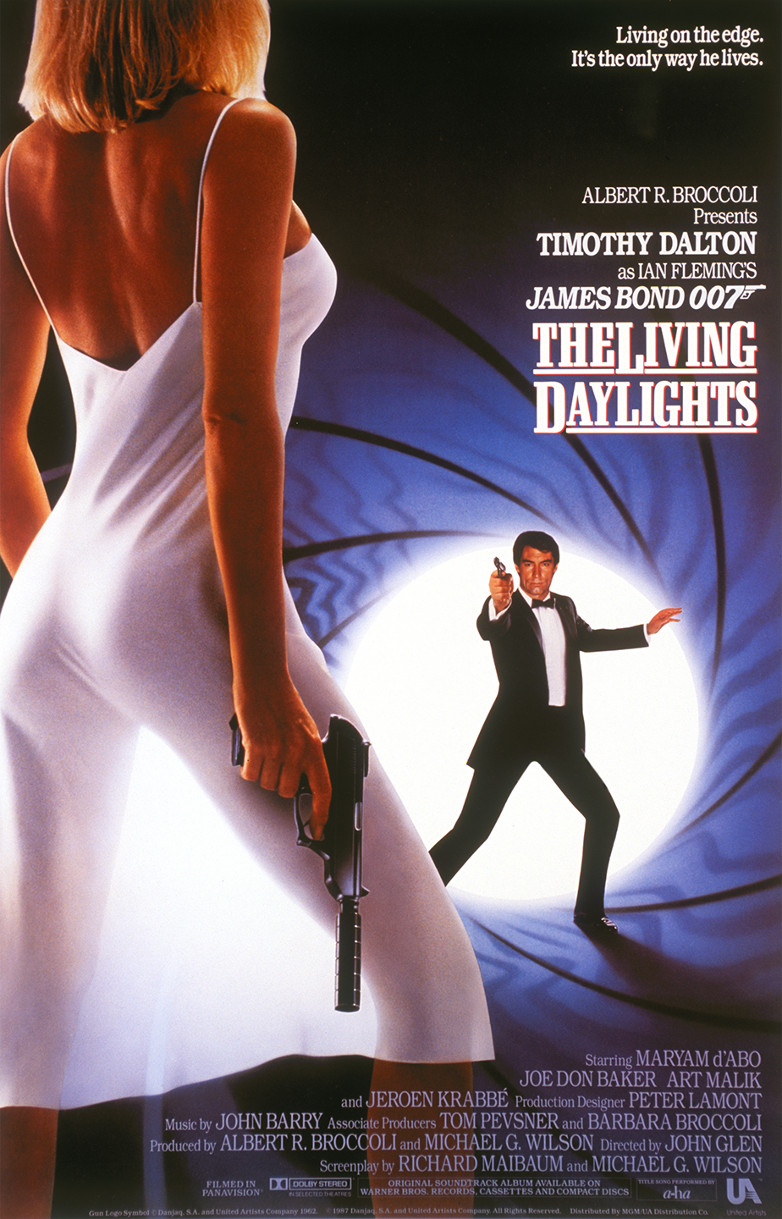 One sheet poster for The Living Daylights (1987)
