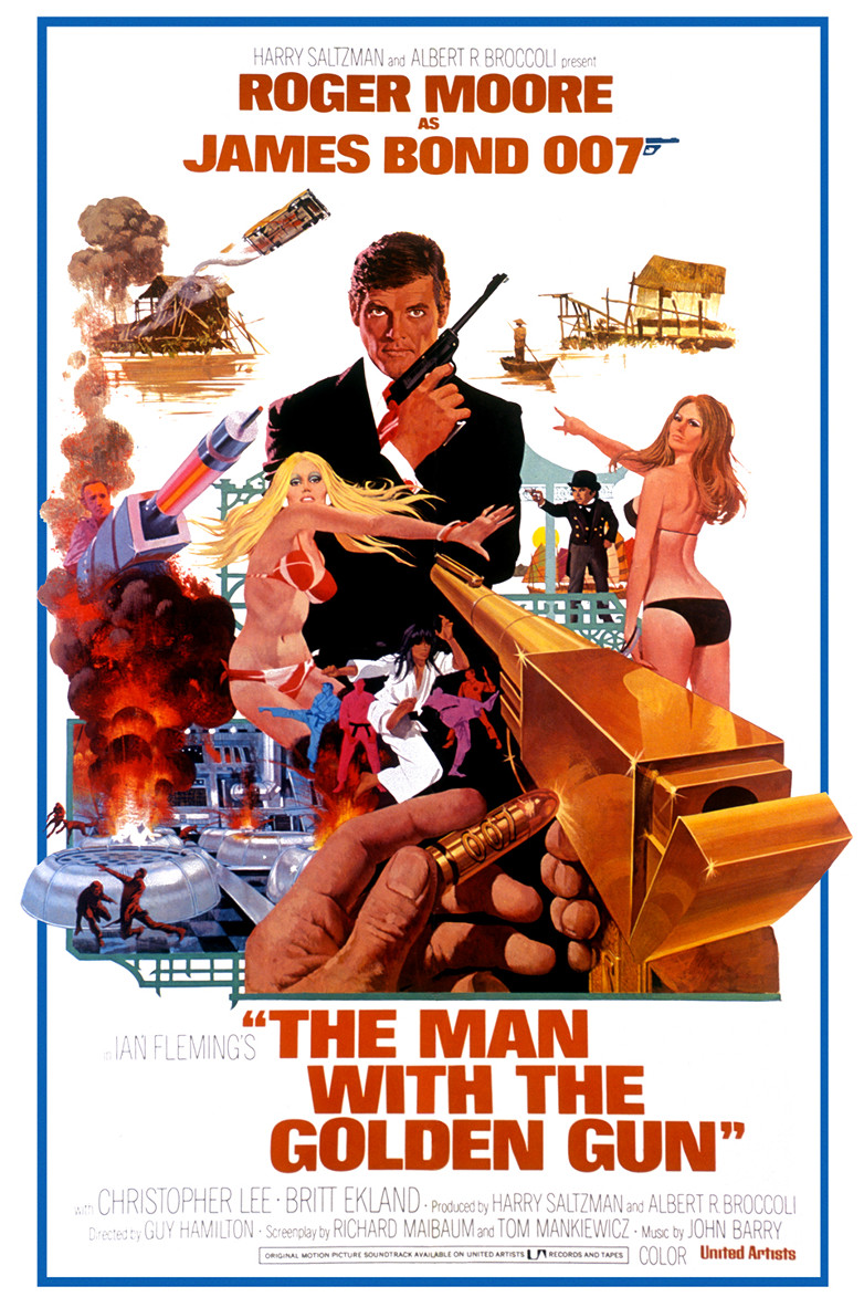 US one-sheet poster for The Man with the Golden Gu
