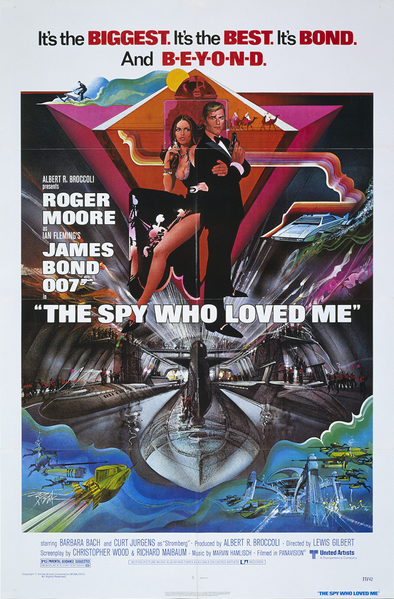 US one-sheet poster for The Spy Who Loved Me 1977