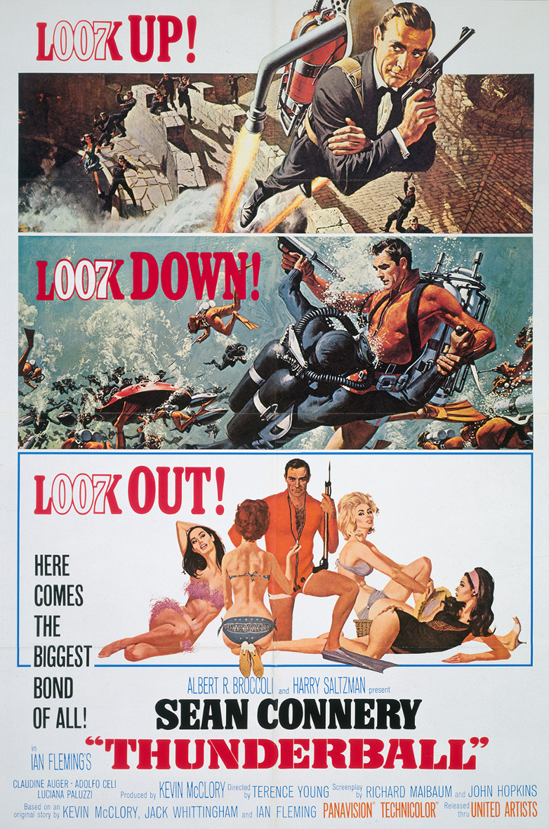 US one sheet poster for Thunderball (1965)