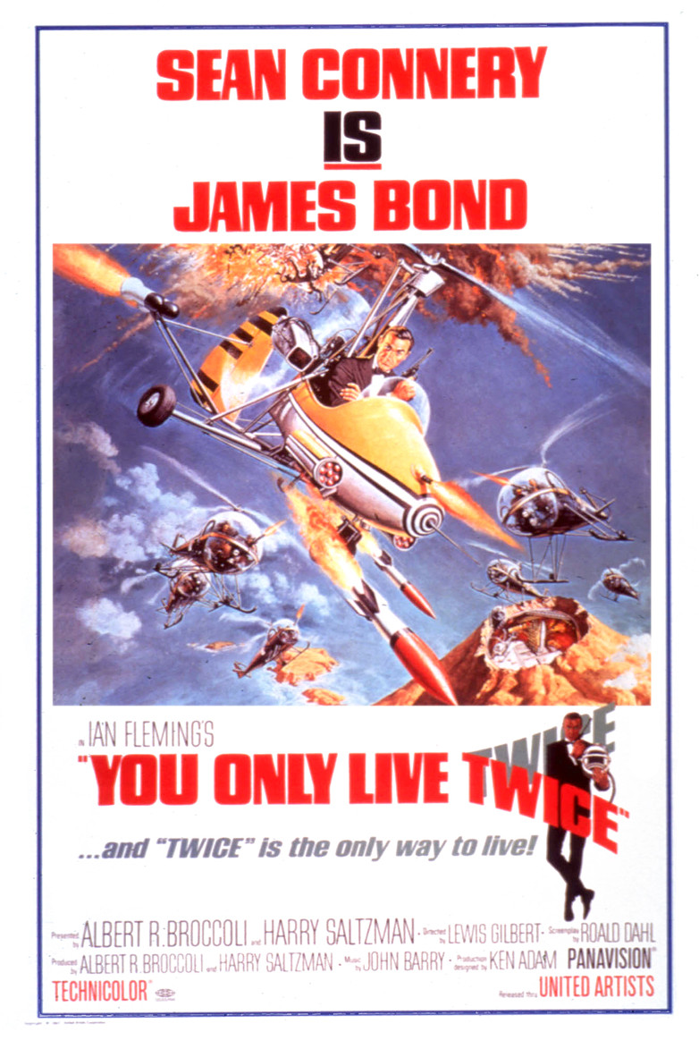 US One sheet poster for You Only Live Twice (1967)