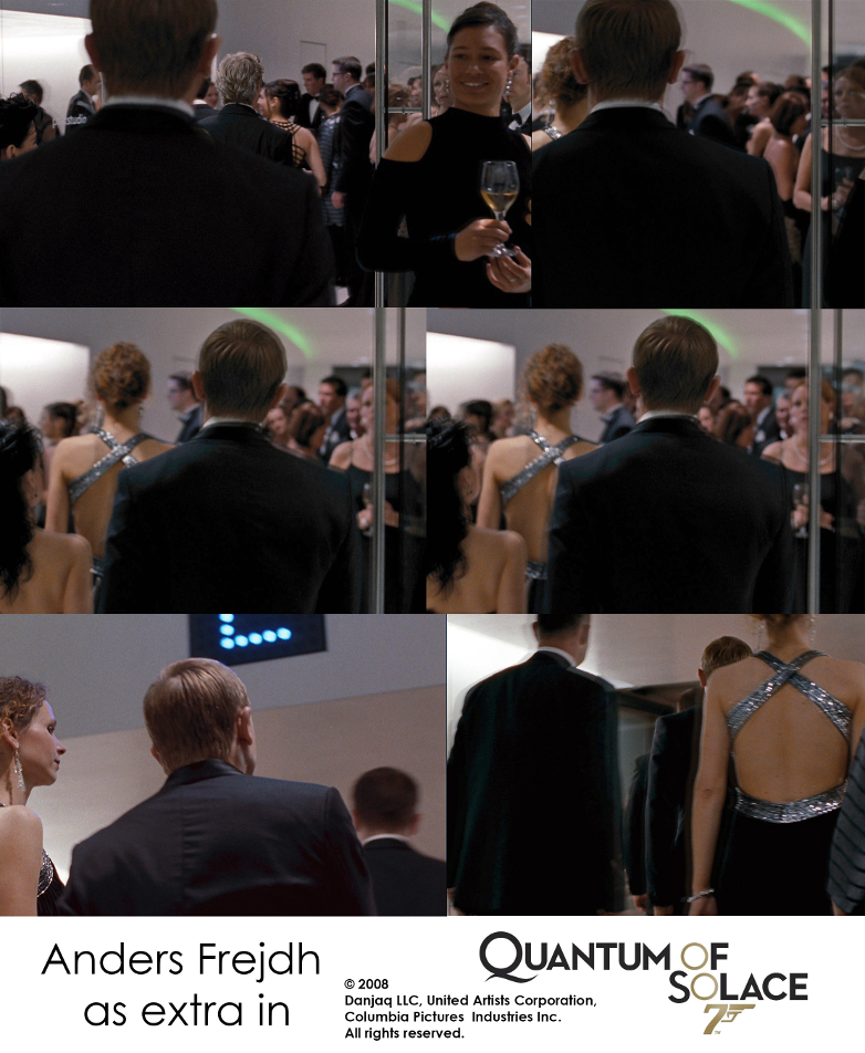 Anders Frejdh as extra in the 2008 James Bond film Quantum of Solace starring Daniel Craig