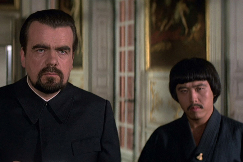 Michael Lonsdale and Toshiro Suga in Moonraker