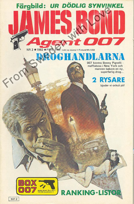 AGENT JAMES BOND 007 no 2 of 8, 1982