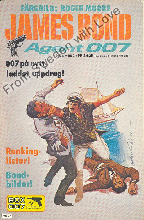 AGENT JAMES BOND 007 no 6 of 8, 1982