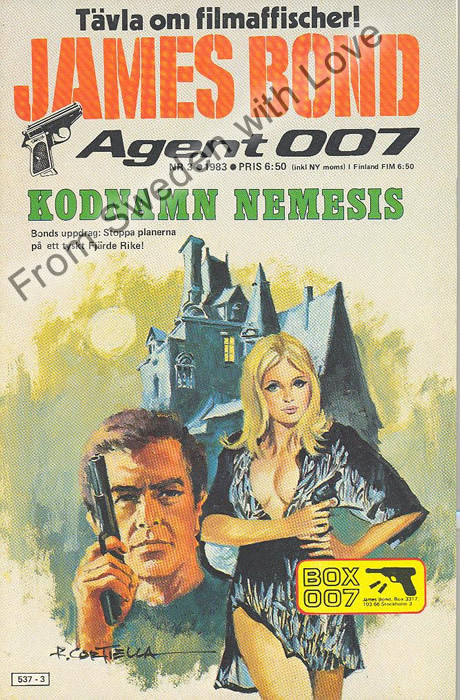 AGENT JAMES BOND 007 no 3 of 8, 1983