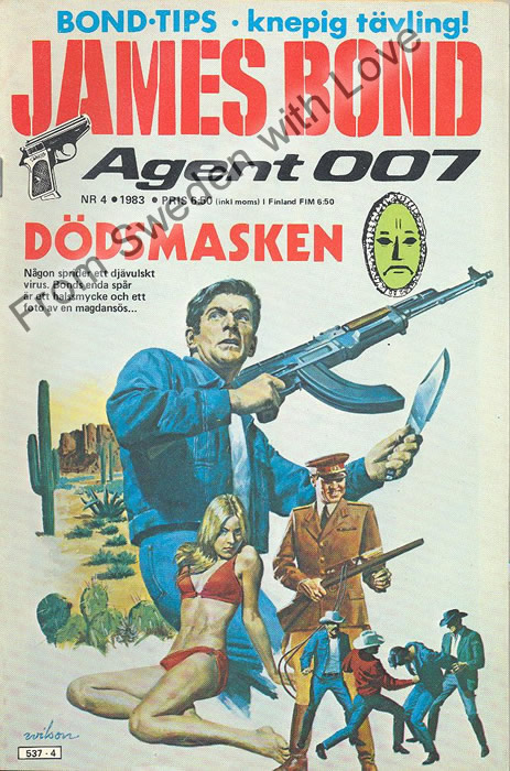AGENT JAMES BOND 007 no 4 of 8, 1983