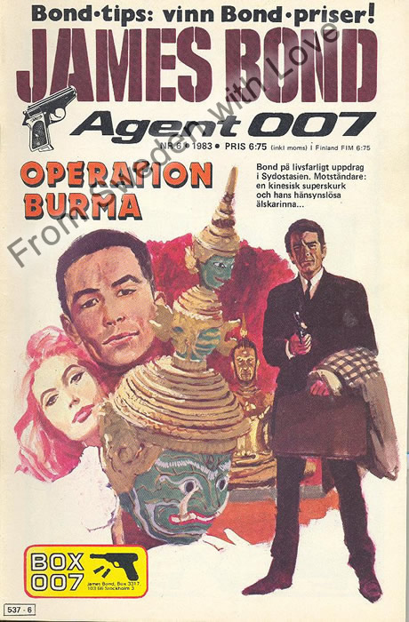 AGENT JAMES BOND 007 no 6 of 8, 1983