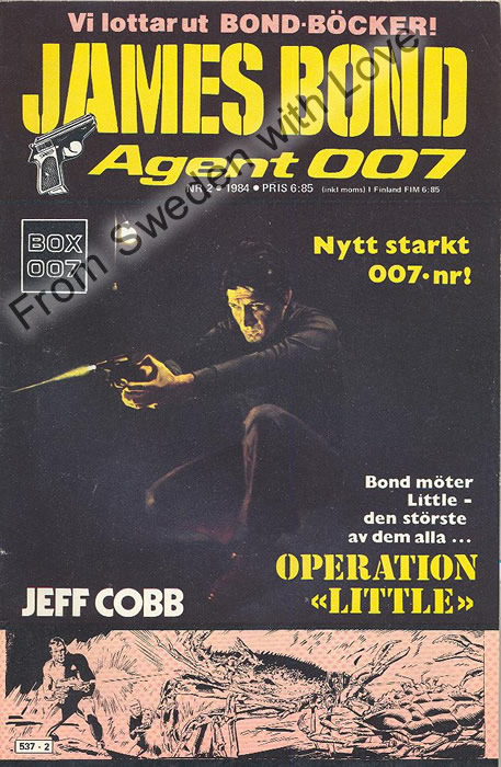 AGENT JAMES BOND 007 no 2 of 8, 1984