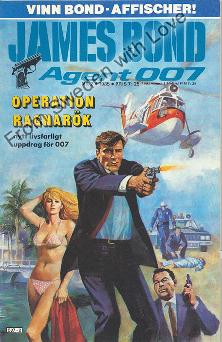 AGENT JAMES BOND 007 no 2 of 8, 1985